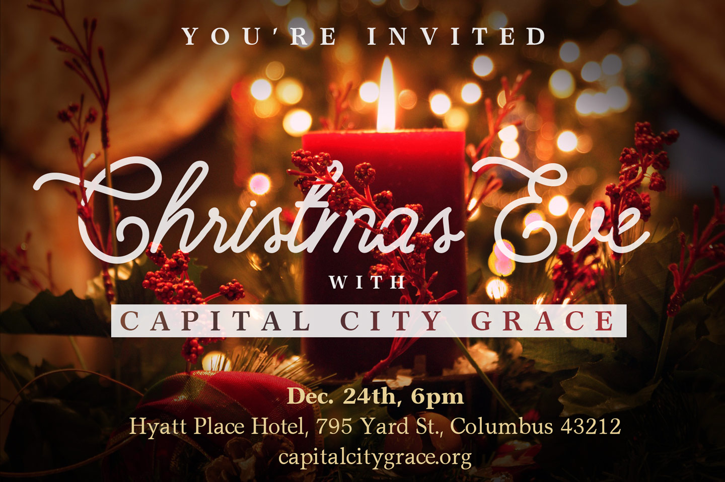 JOIN US AT OUR CHRISTMAS EVE SERVICE | Capital City Grace Church